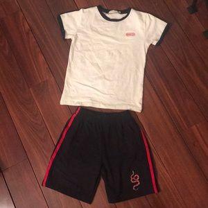 Gucci Boys 2 Pc. knit short set size 8-10